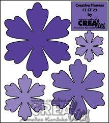 Crealies Creative Flowers no. 23 (stans - die - Stanzschablone - pochoir) http://www.crealies.nl