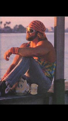 Randy Savage Looking Out Over The Sunset