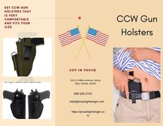 If you ever tried the holster that is sold by different companies online, you will find that they are made up of plastic. The plastic feels irritable to your skin and can even scratch your skin. Proud Right Winger provides CCW gun holsters that are made of high-quality neoprene material that is very comfortable and fits your size. A holster is a place even if you do intensive work. Hurry up visit our website for more information. Pistol Holster, Holsters, Kahr Arms, Ruger Lc9, Springfield Xd, M&p Shield, 45 Acp, Hand Guns, Feels