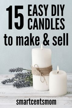 Crafts that Make Money: Start a Candle Business from Home Start a candle business from home with these DIY candle making tips! Learn how to make DIY soy candles and DIY candles with no wax. Turn your creativity into a candle business from home! Candle Making At Home, Candle Making For Beginners, Candle Making Business, Soy Candle Making, Making Candles, Ostern Party, Homemade Scented Candles, Diy Candles Easy, Diy Candle Ideas