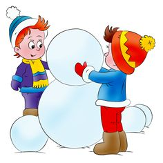Build a snowman Fun Activities For Kids, Crafts For Kids, Winter Clipart, Christmas Crafts, Xmas, Zeina, Build A Snowman, Winter Pictures, Tole Painting