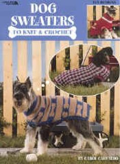 Dress up any pooch with these fun-to-make designs! 10 projects in all, will give your best friend a wardrobe to match your own! Easy, clear instructions make this the best dog sweater leaflet yet!    There are 4 knit designs and 4 crochet designs with directions given for every size dog. I just love the one with the bone in the hip pocket don't you?