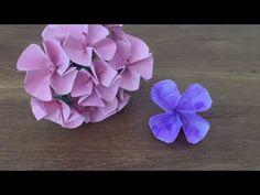 Tutorial 1 / Manifold Origami Flower / easy - YouTube