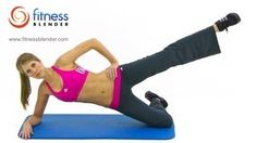 10 Minute Inner Thigh Workout - Fitness Blender Inner Thigh Exercises to Tone, via YouTube.
