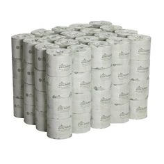Georgia-Pacific Envision 19880/01 White 2-Ply Embossed Bathroom Tissue, 4.05″ Length x 4″ Width (Case of 80 Rolls)