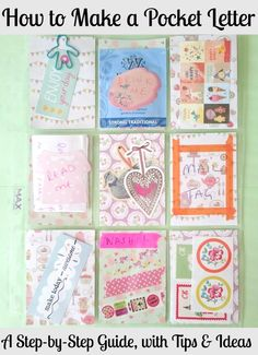how to make a pocket letter, a step by step guide. Very pretty snail mail Pocket Pal, Pocket Cards, Pen Pal Letters, Pocket Letters, Round Robin, Snail Mail Pen Pals, Snail Mail Gifts, Fun Mail, Atc Cards