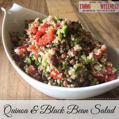 "Black Bean Quinoa Salad 21 Day Fix Recipe, 21 Day Fix Vegan Recipe CLICK HERE to get more 21 Day Fix recipes under ""favorite recipes"" www.timmipark.com"