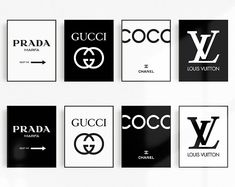 Welcome to PhosArt! This is our Fashion Brands Prints (set of 8 printables) ! Chanel Logo, Chanel Chanel, Chanel Fashion, Chanel Nails, Chanel Couture, Chanel Dekor, Chanel Bedroom, Wall Art Decor, Room Decor