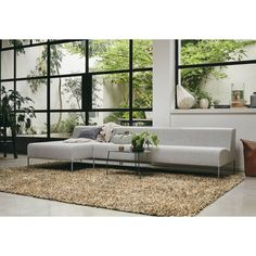 Spring Shaggy Rugs by Brink & Campman 59101 buy online from the rug seller uk, – Shaggy Rugs Living Room Living Room White, White Rooms, Rugs In Living Room, Living Spaces, Brown Rug, Contemporary Rugs, Interior Design Living Room, Room Interior, Outdoor Sofa