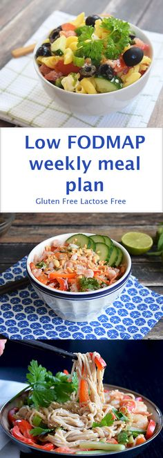 A low FODMAP weekly meal plan! Gluten-free and lactose-free.