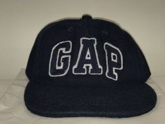 18a9060b41c36 GAP Navy Hat Cap Athletic Mens Embroidered Strapback Adjustable Wool Made  In Usa  fashion