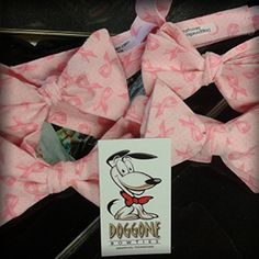 A lot of work goes into getting my Doggone Bow Ties on the floor for breast cancer awareness month.