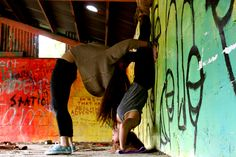 all you need is cool art, yoga, and a best friend.
