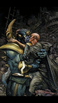 First kiss Thanos and Death