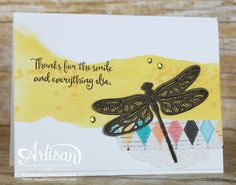 Dragonfly Dreams is a fantastic stamp set from Stampin' Up! to use for any stamping techniques. See how I used this set for a masking technique.