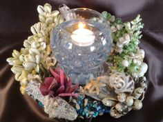 Lovely Libby...Candle Cradle... by Ann Marie's Seashell Art and Creations