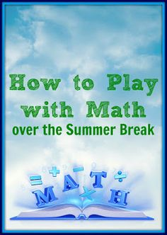 Summer break = play + math?  No kidding!  We love these oh-so-clever ideas from #planetsmarty.
