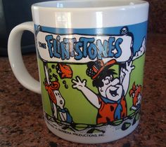 Rare Collectible Flintstones Mug / Coffee Cup / by Lauralous, $25.00