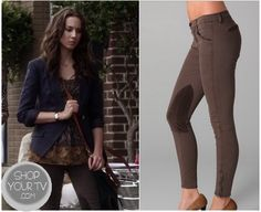 Shop Your Tv: Pretty Little Liars: Season 3 Episode 17 Spencer's Riding Pants Spencer Hastings Outfits, Pretty Little Liars Seasons, Riding Pants, Season 3, Preppy, Pll, Chic, My Style, Womens Fashion