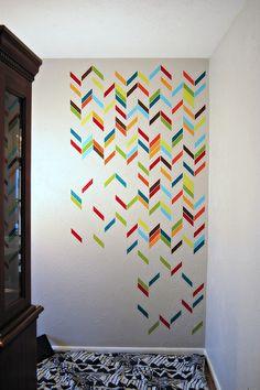 WIP: Herringbone Painted Wall - CoopCrafts