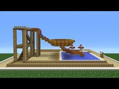 Minecraft Tutorial: How To Make A Bowl Water Slide (Mini Water Park) - YouTube