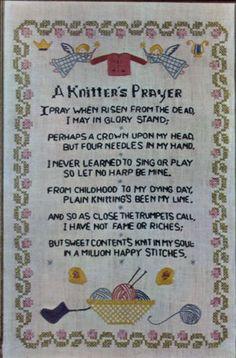 "Progress Sampler Cross Stitch Embroidery Kit #819 A Knitters Prayer NEW 12""x18"""