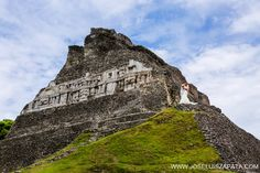 Destination wedding photos on the ancient #Mayan Ruins of Belize.  #Wedding #Belize