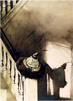 Feather in her cap, Andrew Wyeth, 1987