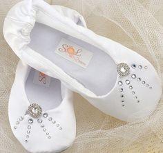 Bridal Ballet Flats Ballerina Slippers By Solbijou 175 00