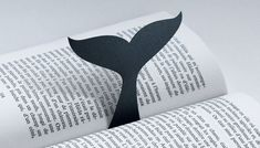 WHALE by Atypyk PLUNGE INTO YOUR BOOKS WHALE BOOKMARK