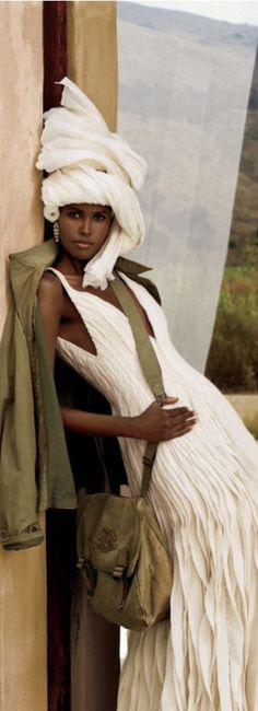 I love the dress not so much the head covering!!! Ralph Lauren #Africa Kenya Nairobi fashion