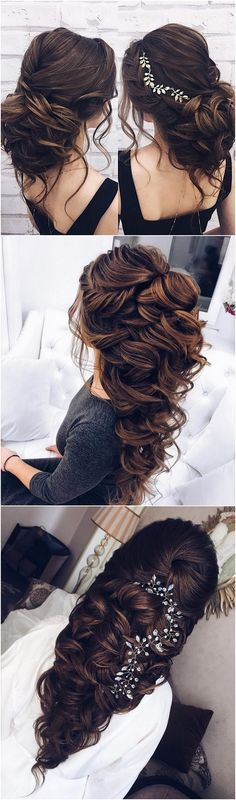 half up half down wedding hairstyle_#weddinghairstyles #bridalhairstyle #bridalupdos #weddinghairstyle
