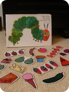 creating & teaching: hungry caterpillar sequencing.