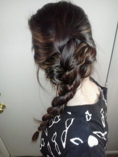 when my hair gets longer!!!   Rope French Braid  Click the little picture for steps :)