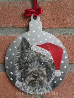 Kersthanger Cairn Terrier www.selena-art.nl