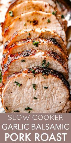 Easy Pork Loin Recipes, Ground Beef Recipes, Chicken Recipes, Lunch Recipes, Breakfast Recipes, Crock Pot, Casserole, Garlic, Roast