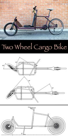 REcycle - How to Build a Two Wheel Cargo-bike - Bicycles - Motorrad Mini Buggy, Bullitt Bike, Mtb Frames, Velo Cargo, Range Velo, Bicycle Maintenance, Bike Style, Cycling Bikes, Cycling Art