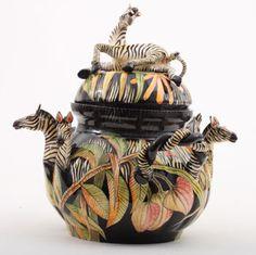 Ardmore Ceramics Zebra Tureen