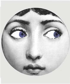 blue eyes, original design with famous Cavalieri engraving on Melamine Plate, Cavalieri art, Lina Cavalieri theme, Cavalieri variation,