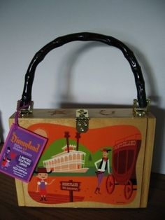 Disney Disneyland Wooden Purse 50th Anniversary Le Limited Edition 1955 On Ebay