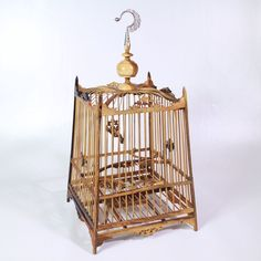 "Wood BAMBOO BIRD CAGE 12""x12""x24"" Experience the beautiful pattern"