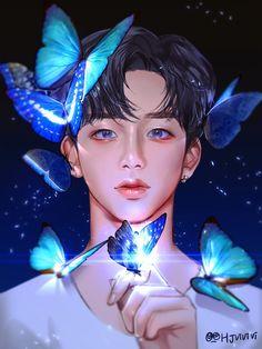 artwork made by ❤️ Korean Anime, Kpop Drawings, Couple Illustration, Anime Version, Fan Art, Fun Cup, Flower Boys, K Idol, Kpop Fanart