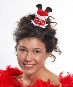Look at this #zulilyfind! Red & White Santa Chimney Hair Clip #zulilyfinds