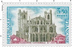 Timbre : 1972 NARBONNE - CATHÉDRALE St-JUST | WikiTimbres