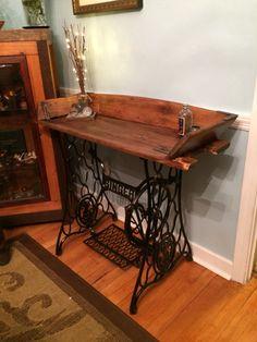 Singer base, buckboard table.