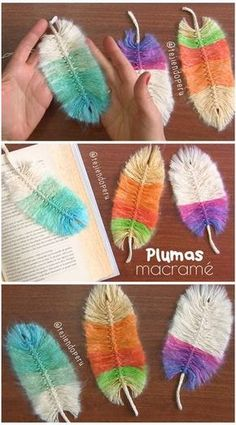 Free Tutorial How To Use Yarn To Make Feathers Crafts
