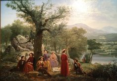 'Recreation' by Jerome Thompson, 1857