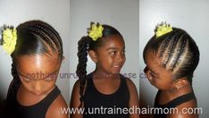 Quick, cute and easy cornrow #hairstyle