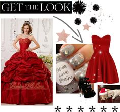 """""""Elegant Red Quinceanera Dress Sweetheart Tafftea Appliques Ball Gown"""" by fancydressesforyou ❤ liked on Polyvore"""