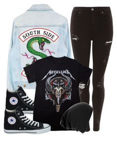 """""""[ Southside Serpent ]"""" by demiwitch-of-mischief ❤ liked on Polyvore featuring Topshop and Converse"""